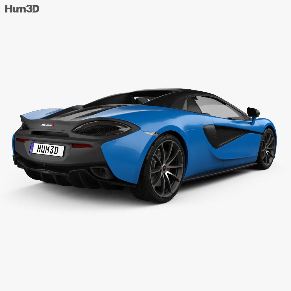 McLaren 570S Spider 2018 3d model