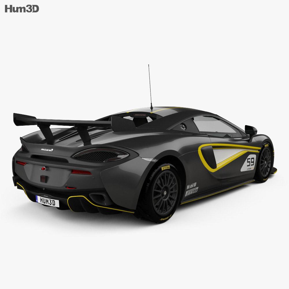 McLaren 570S GT4 2016 3d model