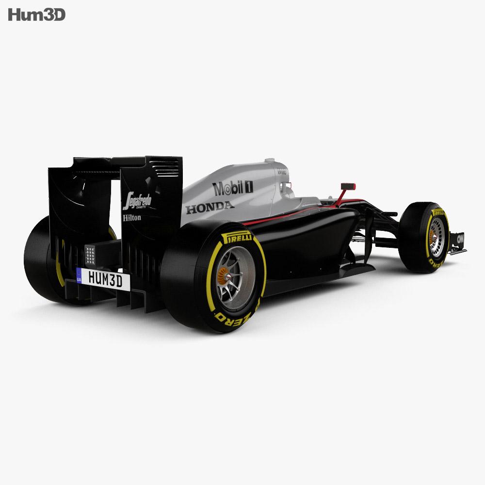McLaren MP4-30 2015 3d model