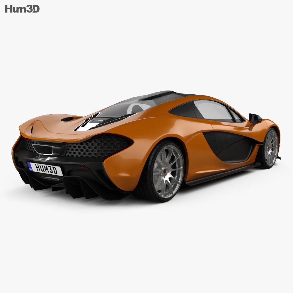 McLaren P1 2013 3d model