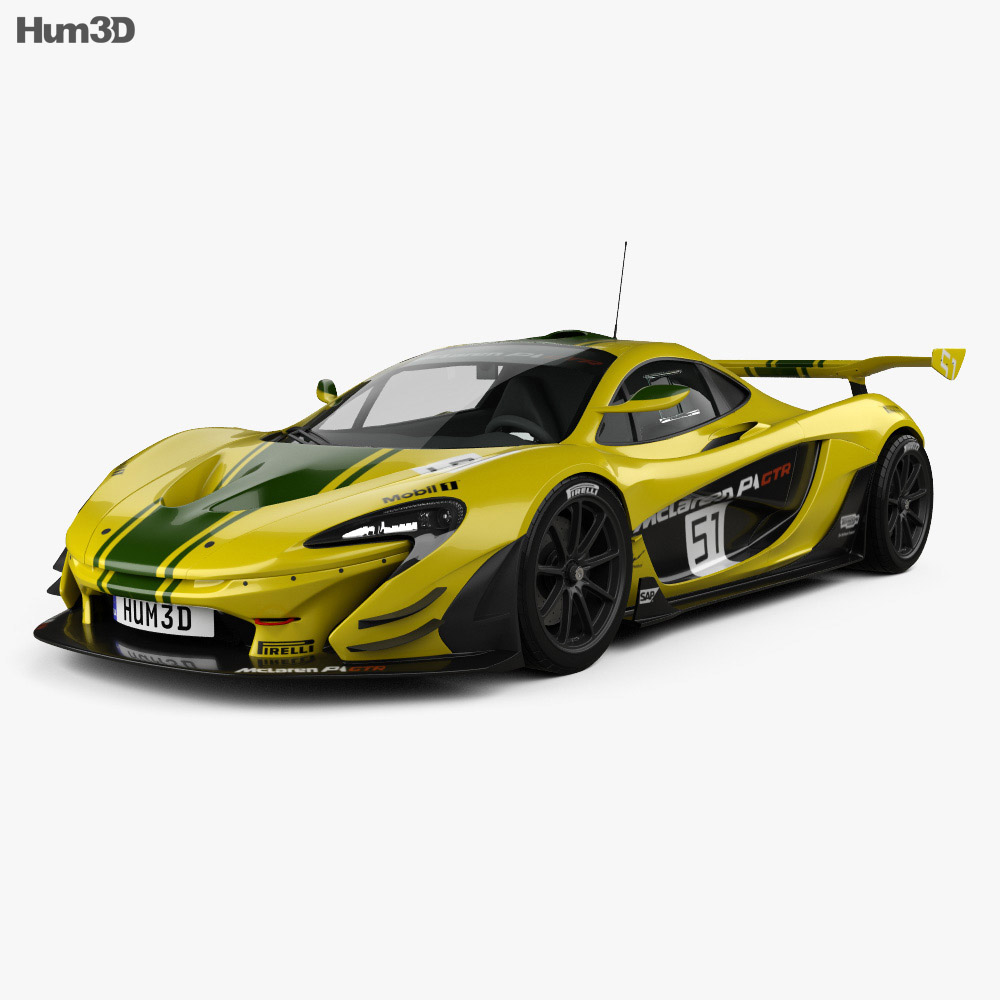 mclaren p1 gtr 2014 3d model hum3d. Black Bedroom Furniture Sets. Home Design Ideas