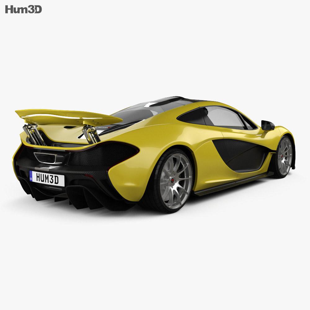 McLaren P1 with HQ interior 2014 3d model