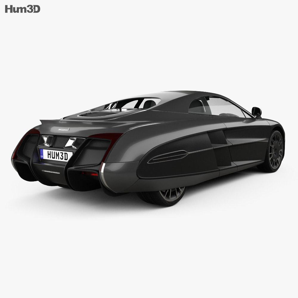 McLaren X-1 2012 3d model back view