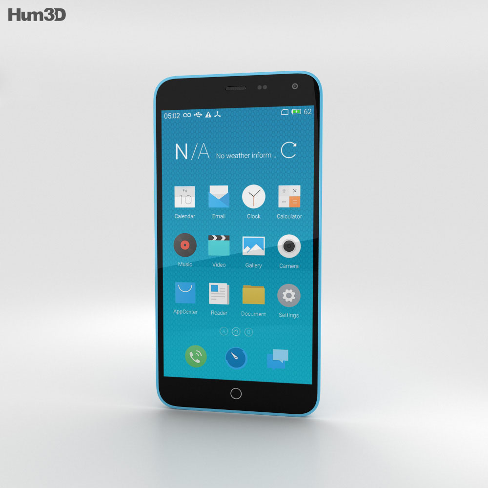 Meizu M1 Note Blue 3d model