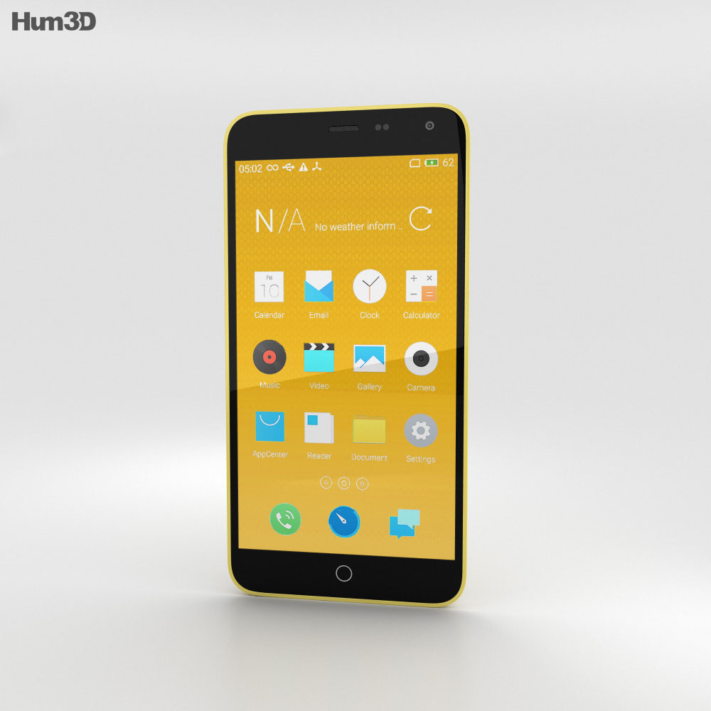 Meizu M1 Note Yellow 3d model