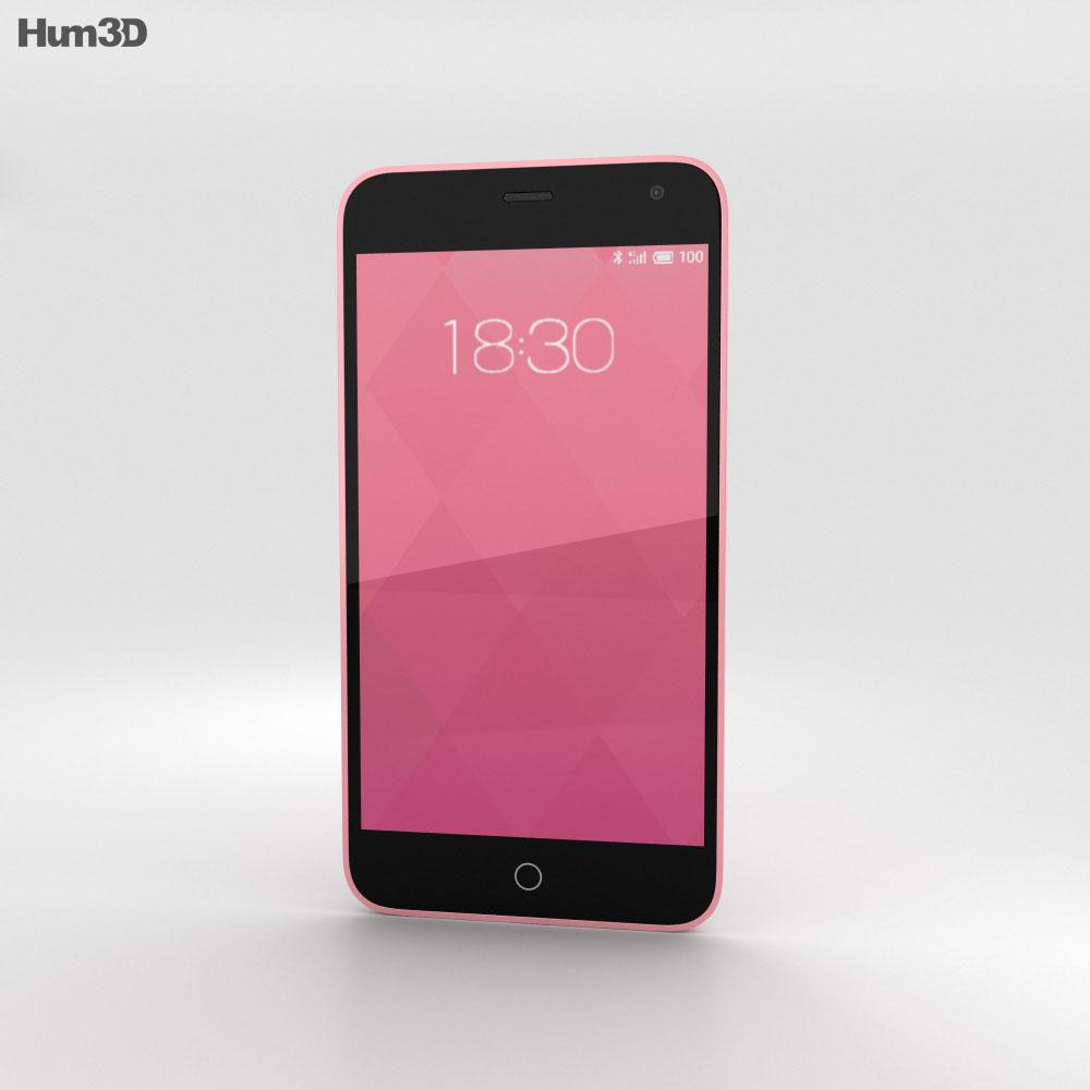 Meizu M1 Pink 3d model
