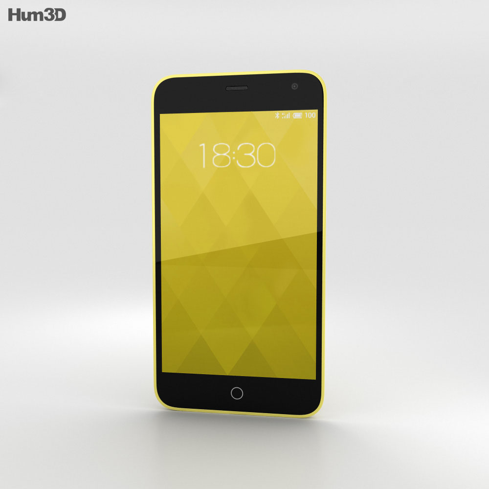 Meizu M1 Yellow 3d model