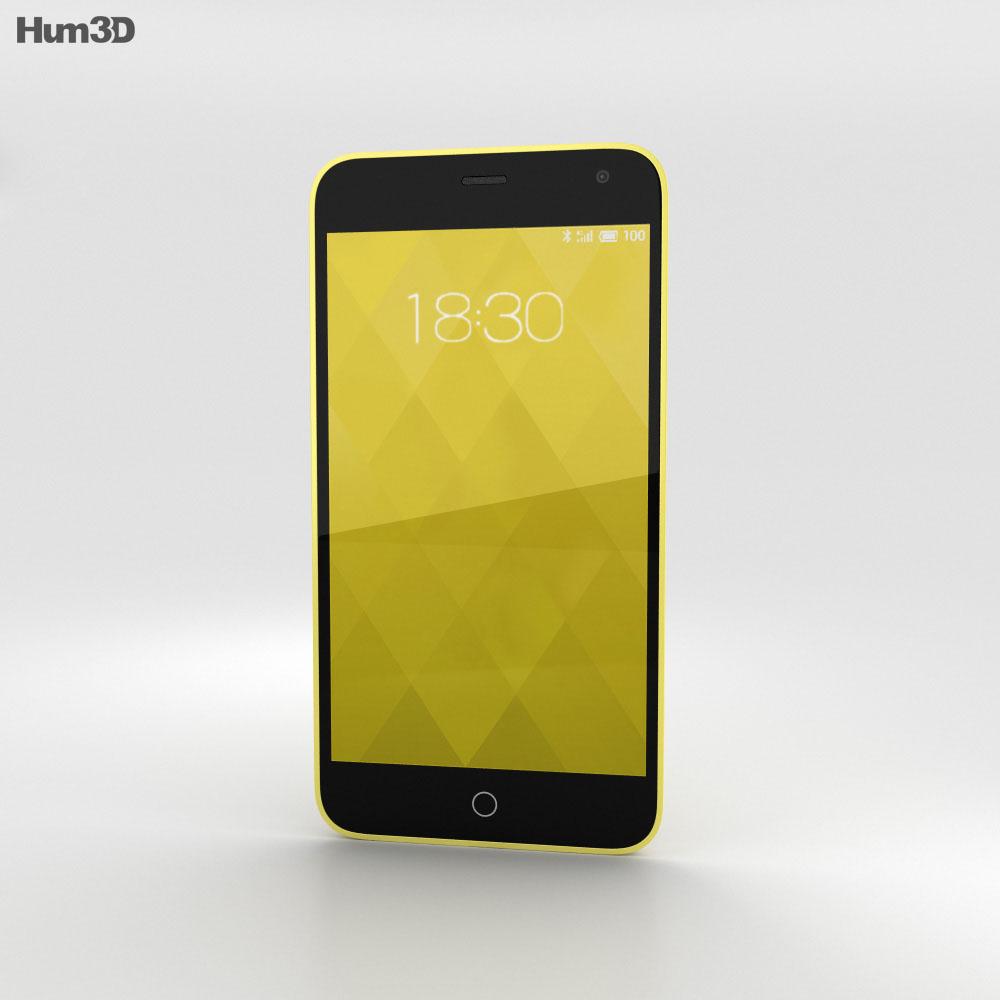 Meizu M1 Yellow 3d model