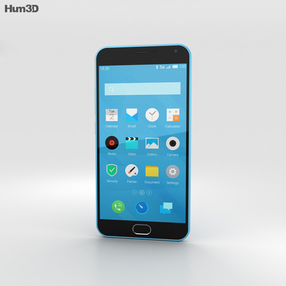 Meizu M2 Note Blue 3d model
