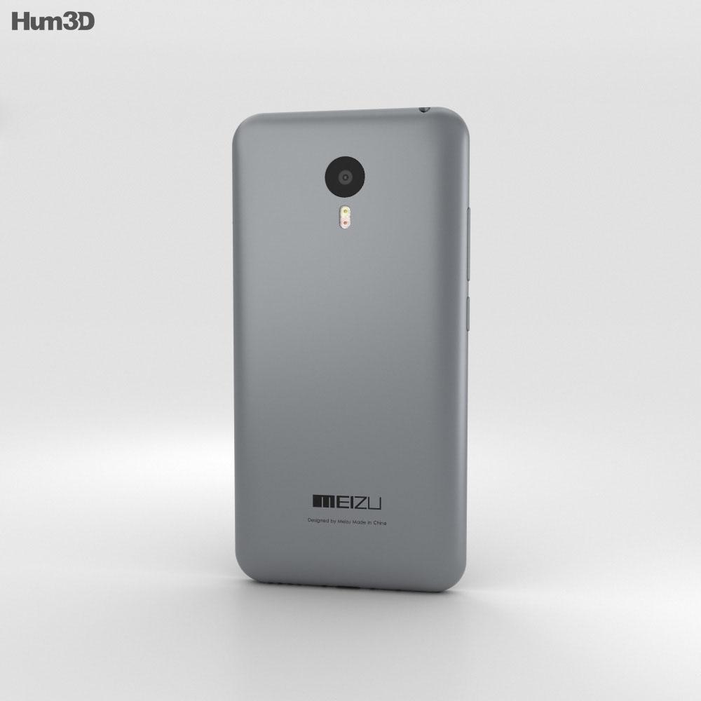 Meizu M2 Note Gray 3d model