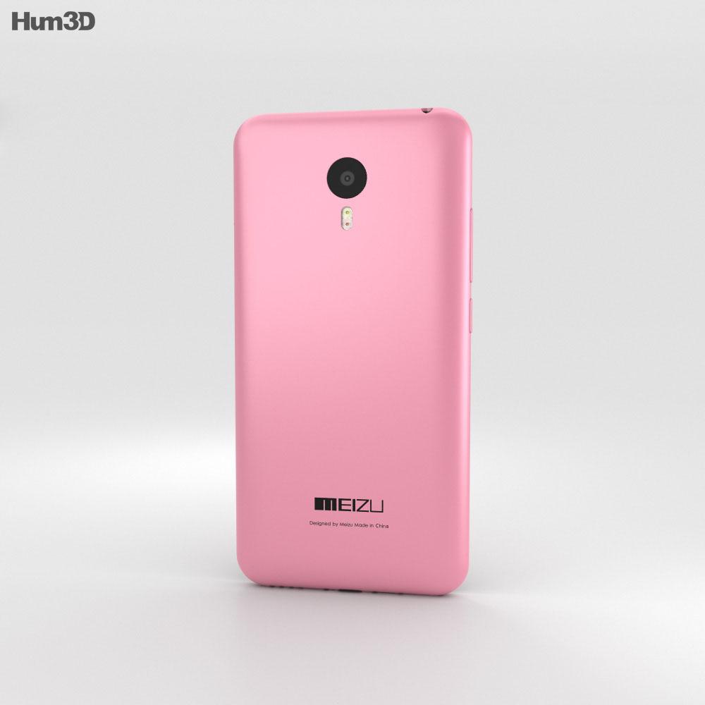 Meizu M2 Note Pink 3d model