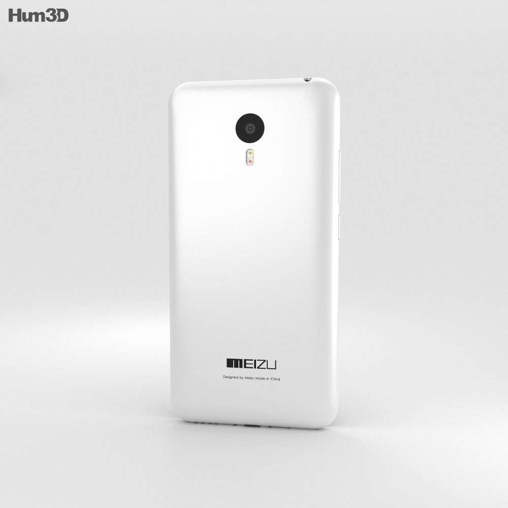 Meizu M2 Note White 3d model