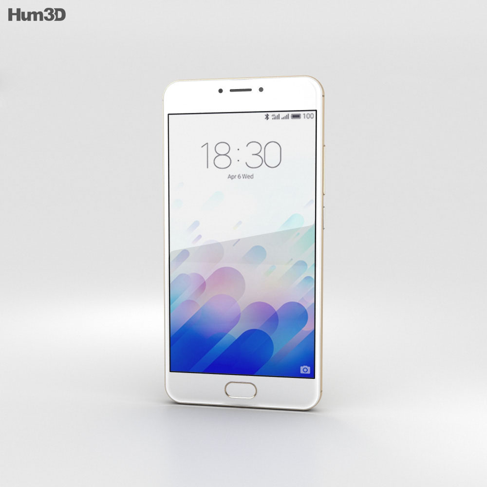 Meizu M3 Note Gold 3d model