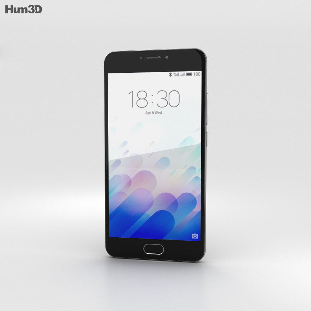Meizu M3 Note Gray 3d model