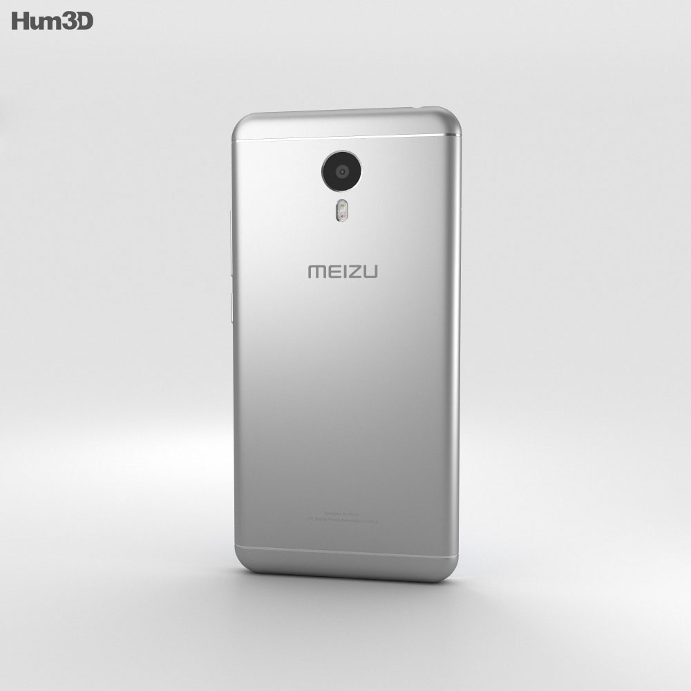 Meizu M3 Note White 3d model