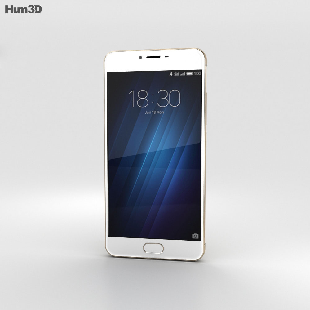 Meizu M3s Gold 3d model