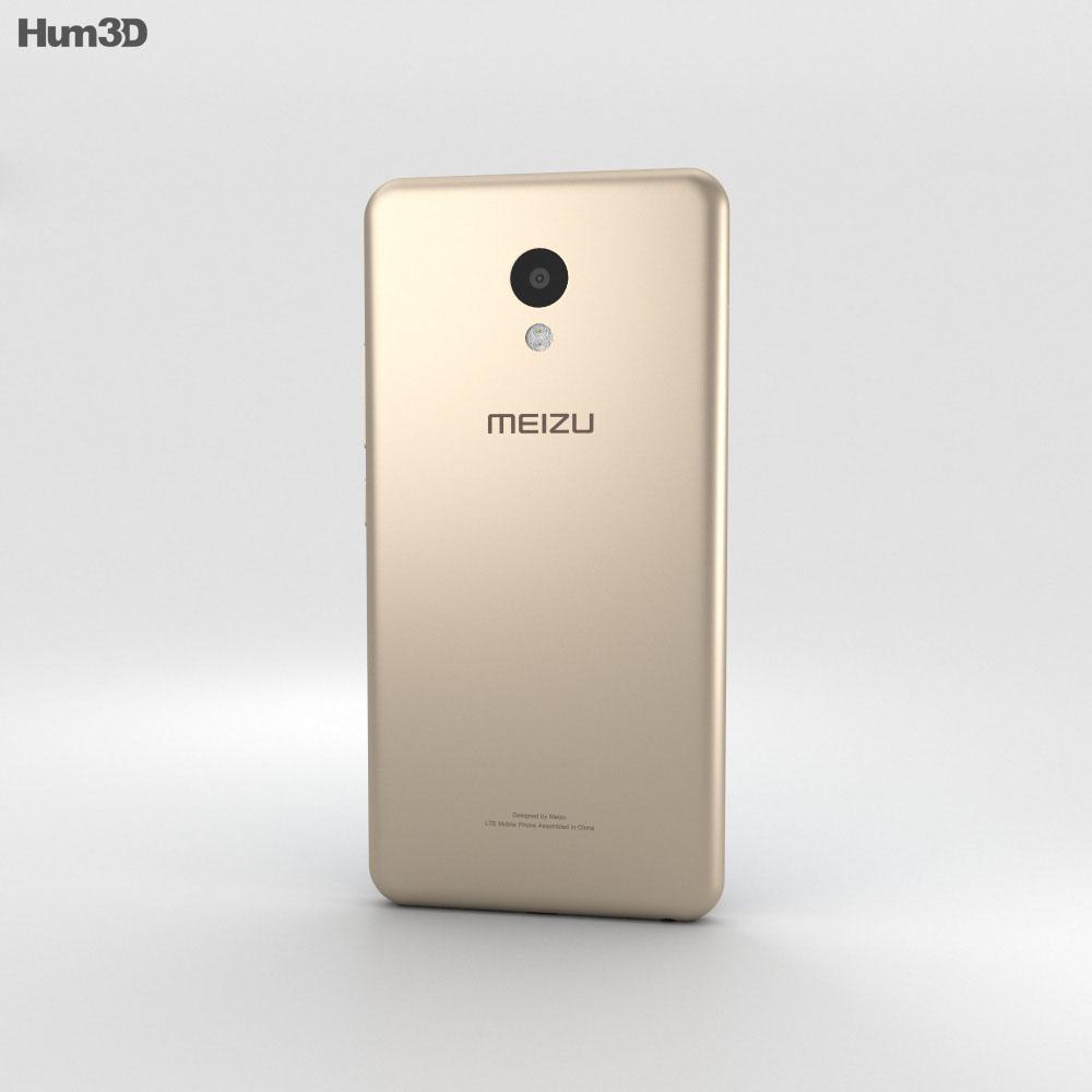 Meizu M5 Champanage Gold 3d model