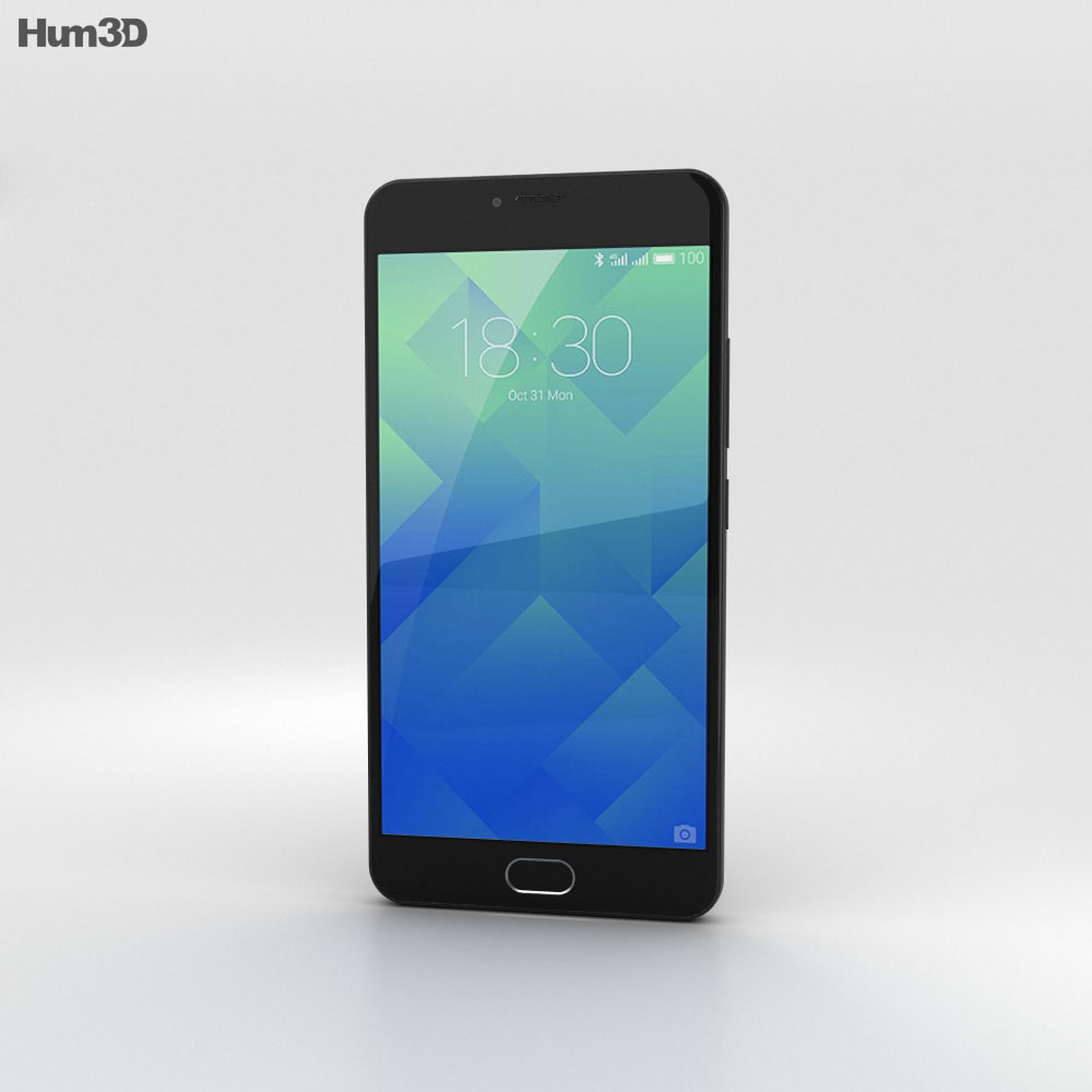 Meizu M5 Matte Black 3d model