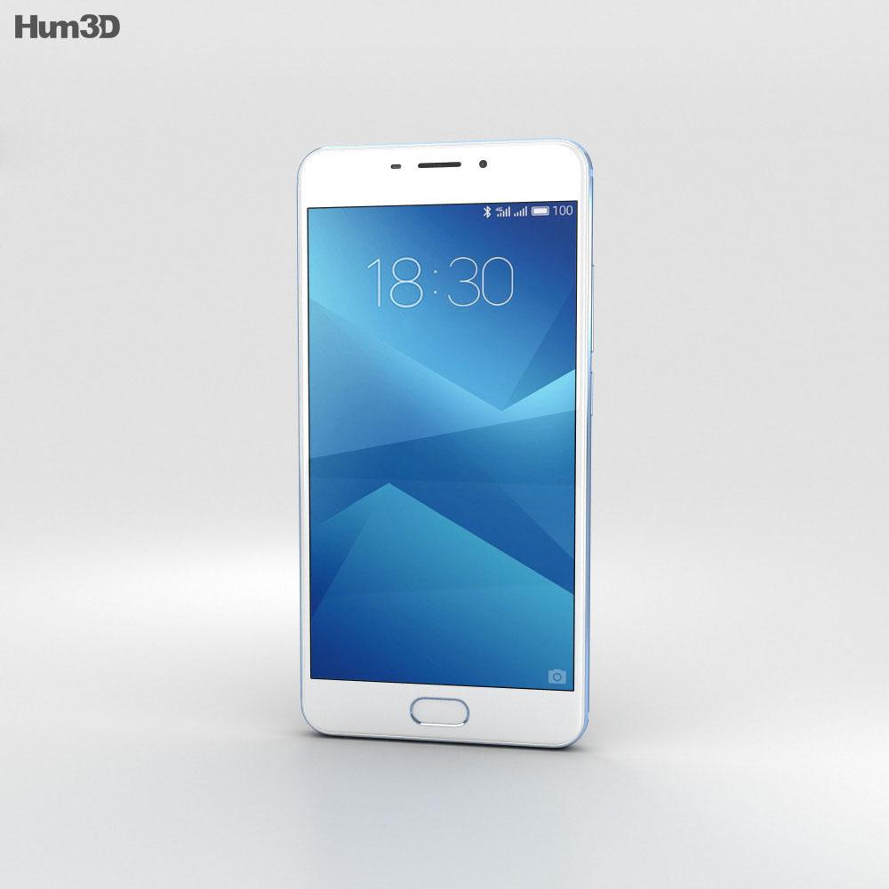 Meizu M5 Note Blue 3d model