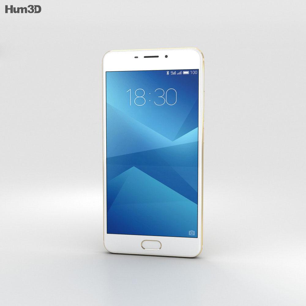 Meizu M5 Note Gold 3d model