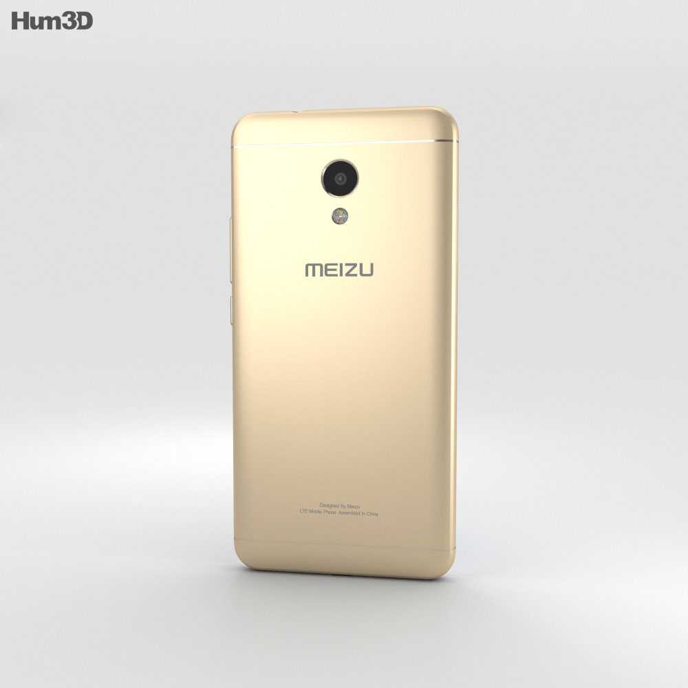 Meizu M5s Champanage Gold 3d model