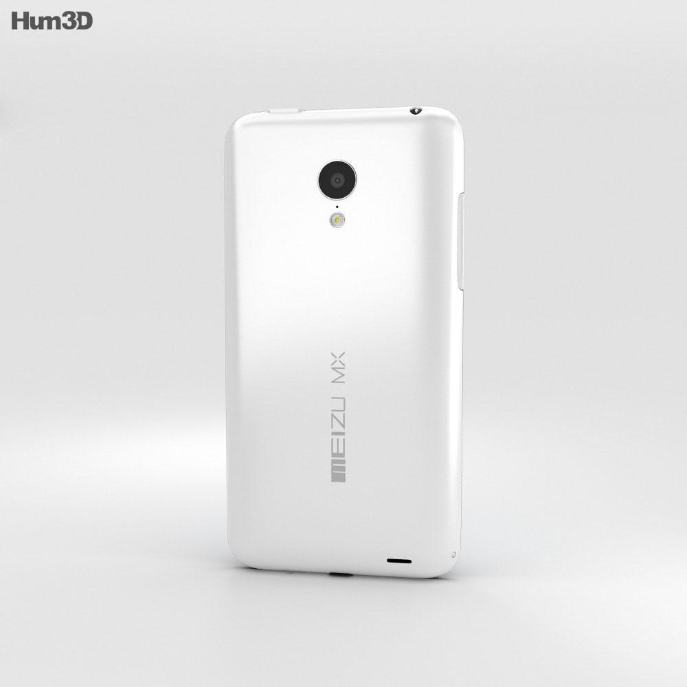 Meizu MX3 Black/White 3d model