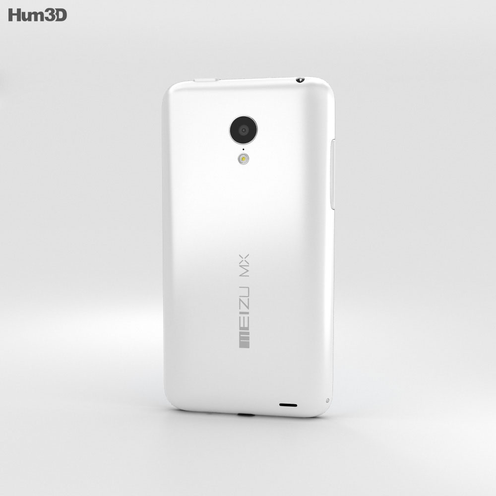 Meizu MX3 White 3d model