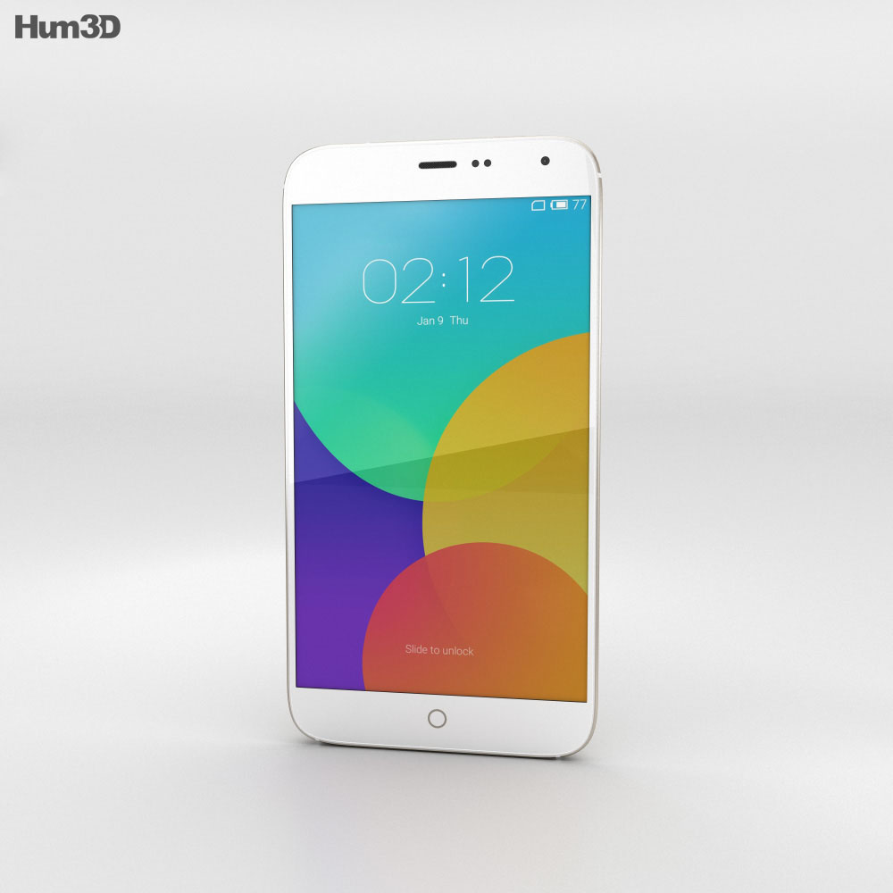 Meizu MX4 Gold 3d model