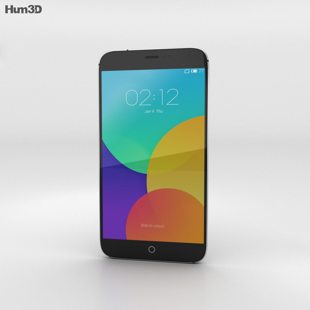 Meizu MX4 Gray 3d model