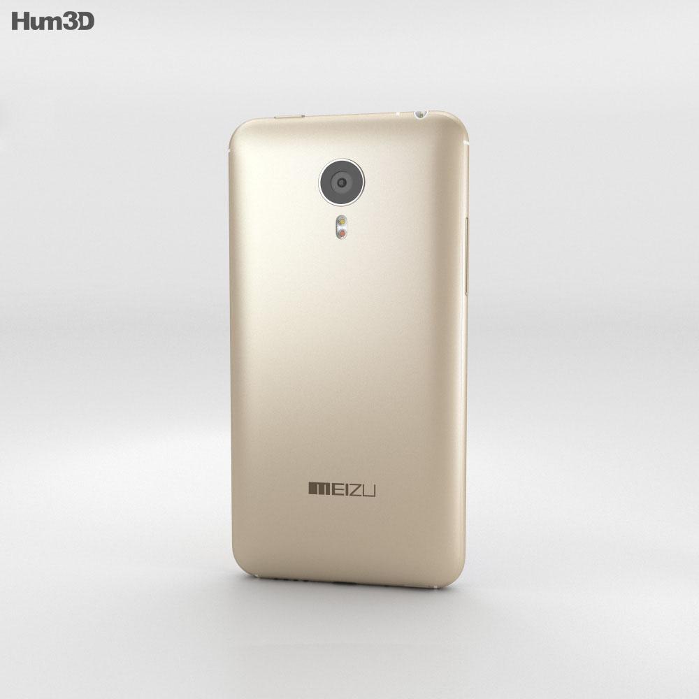 Meizu MX4 Pro Gold 3d model