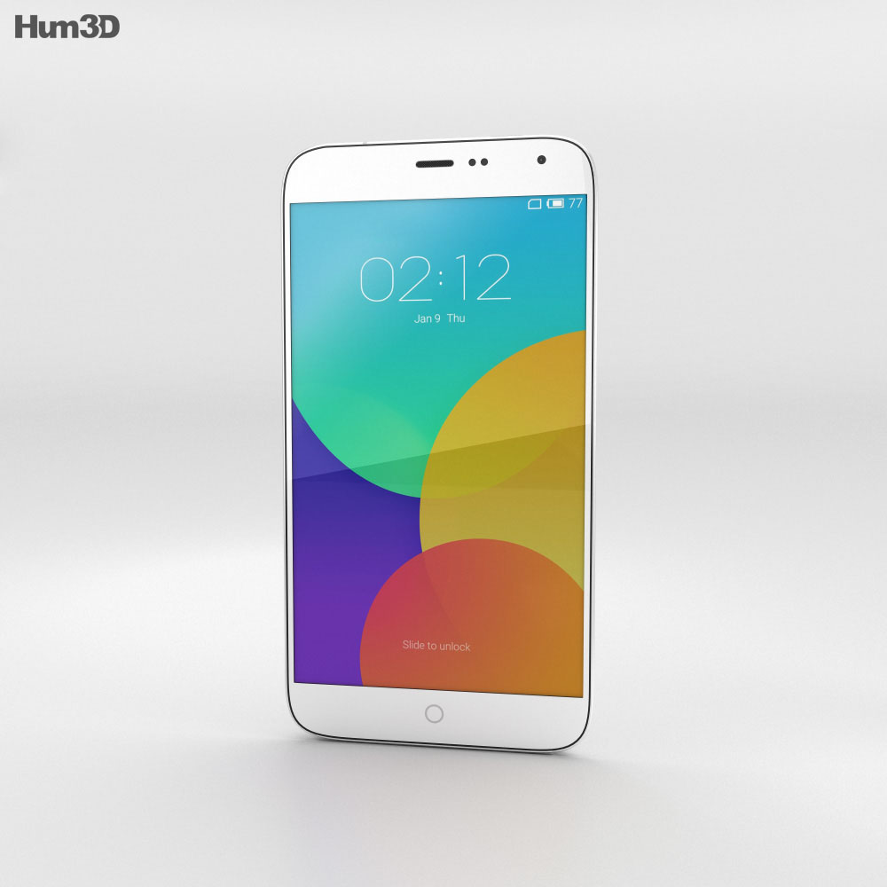 Meizu MX4 White 3d model
