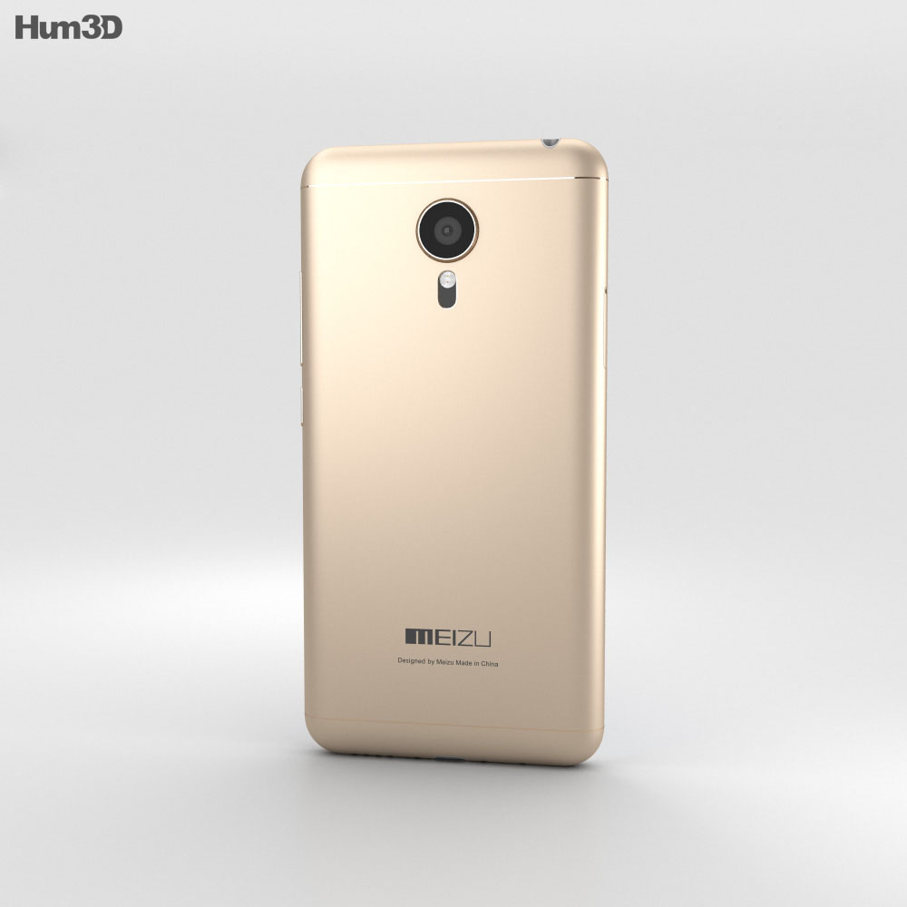Meizu MX5 Gold 3d model