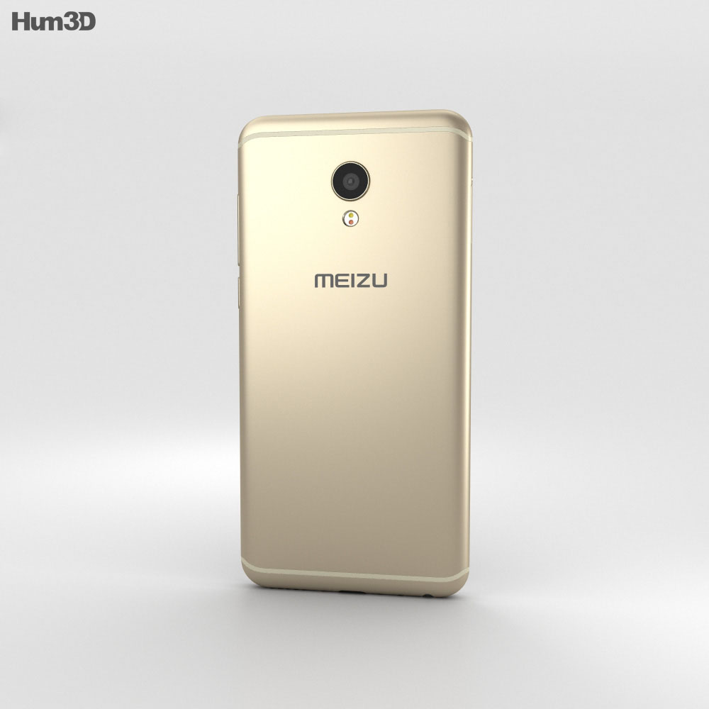 Meizu MX6 Champagne Gold 3d model