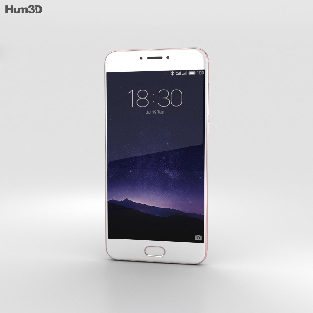Meizu MX6 Rose Gold 3d model