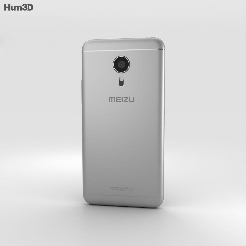 Meizu PRO 5 Silver/Black 3d model