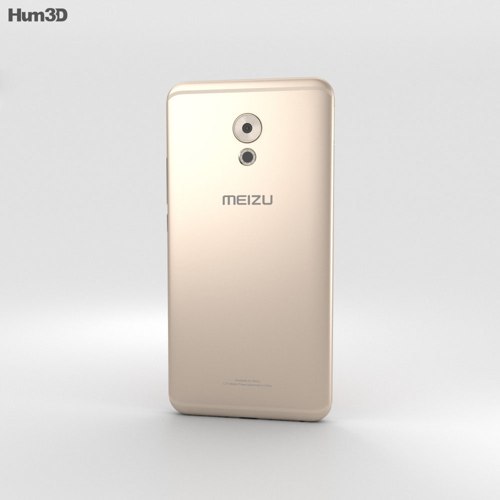 Meizu Pro 6 Plus Gold 3d model