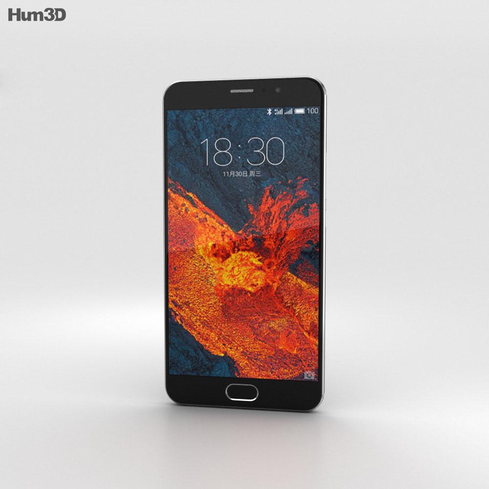 Meizu Pro 6 Plus Gray 3d model