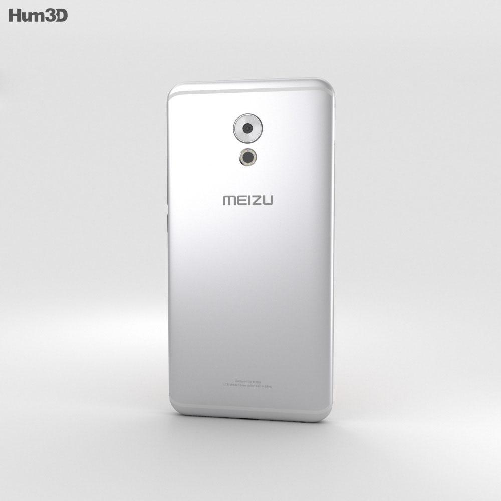 Meizu Pro 6 Plus Silver 3d model