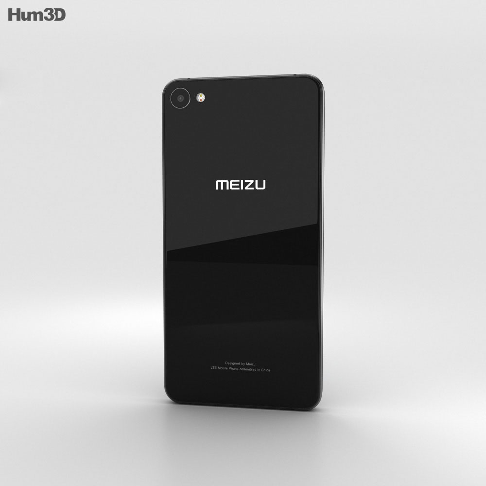 Meizu U10 Black 3d model