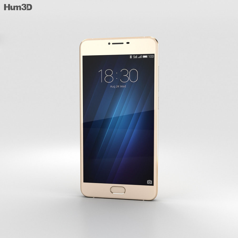 Meizu U10 Shampane Gold 3d model