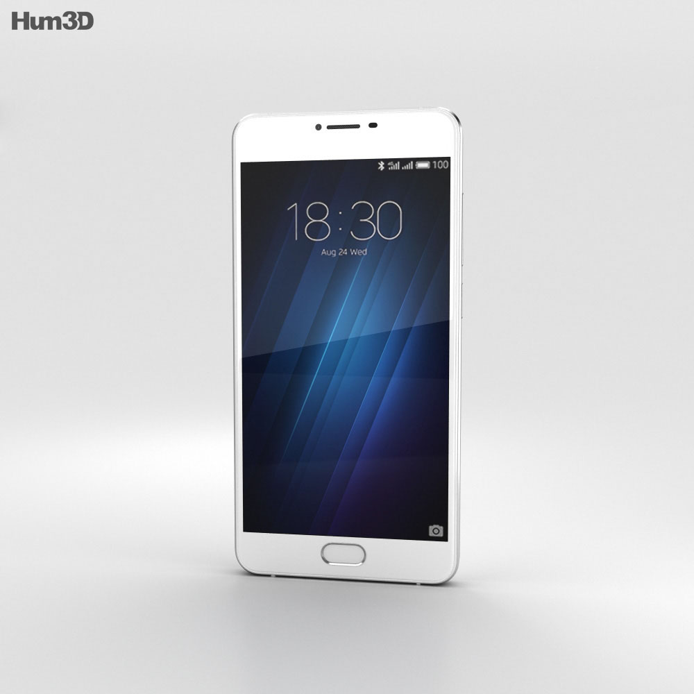 Meizu U10 White 3d model