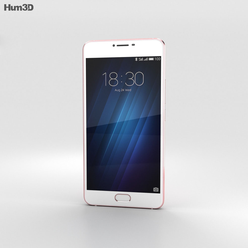 Meizu U20 Rose Gold 3d model