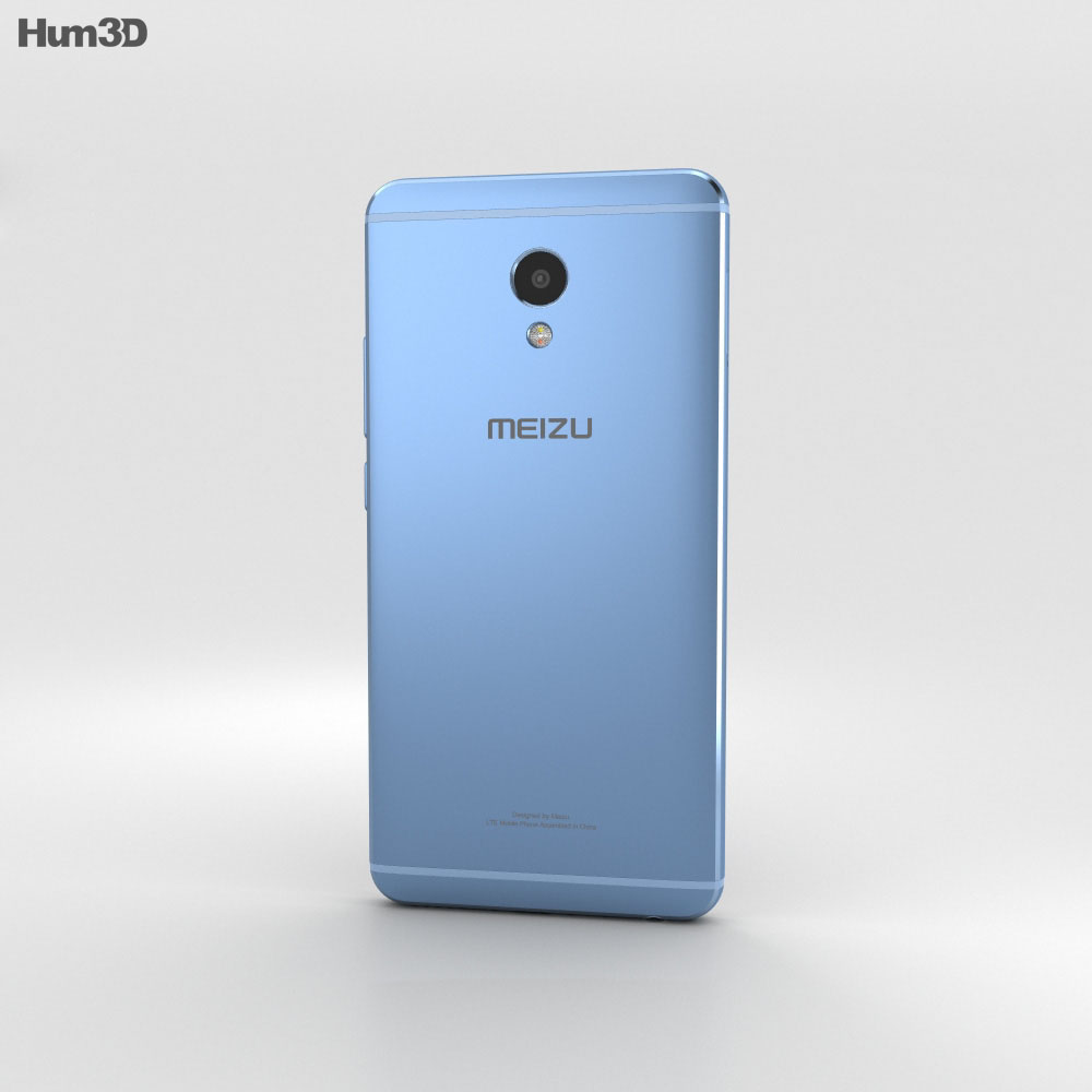 Meizu M3E Blue 3d model