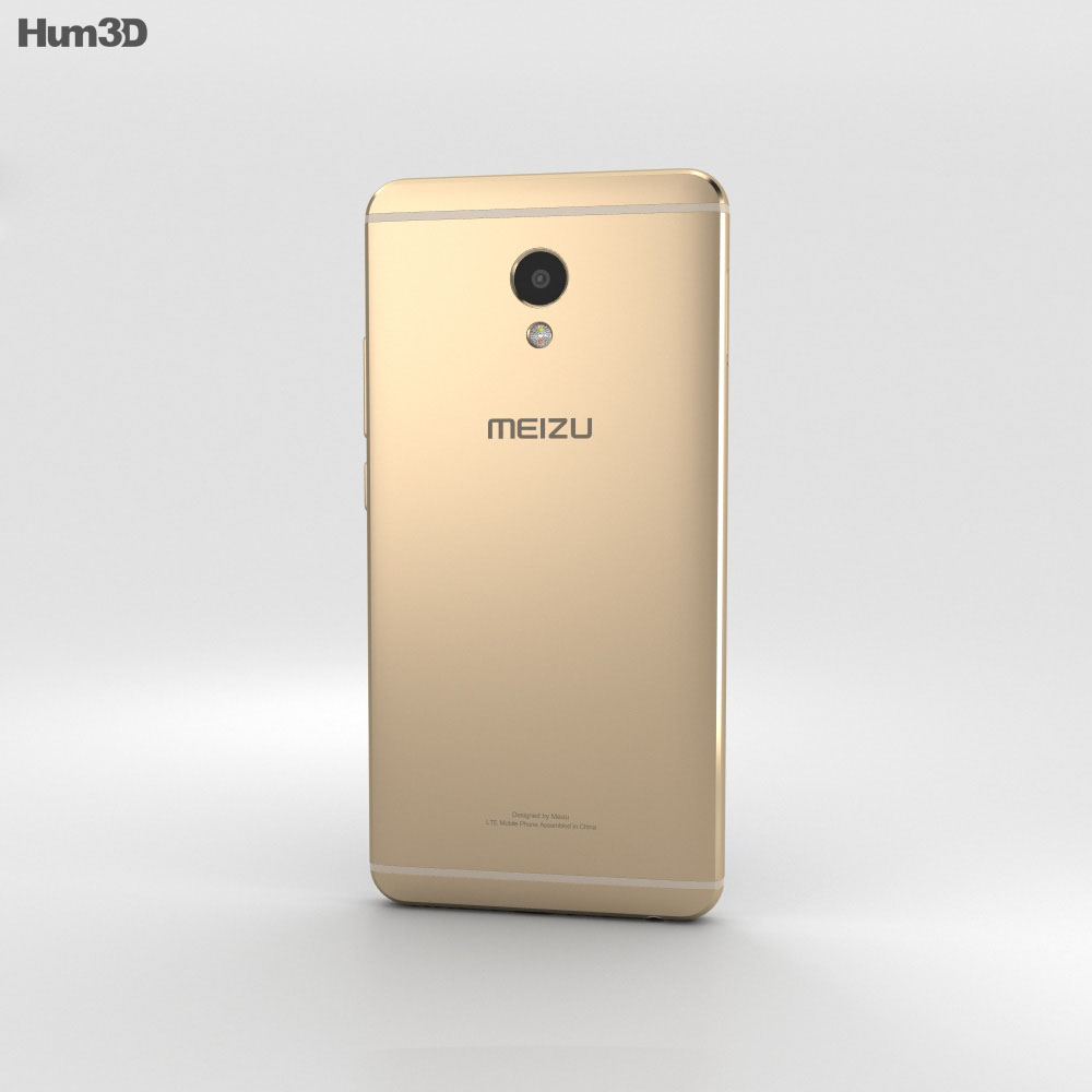 Meizu M3E Gold 3d model