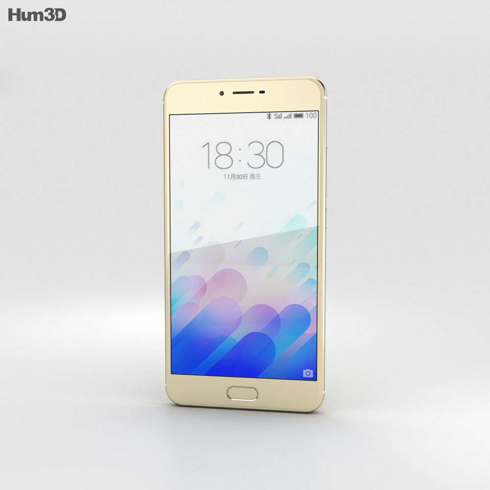 Meizu M3x Gold 3d model