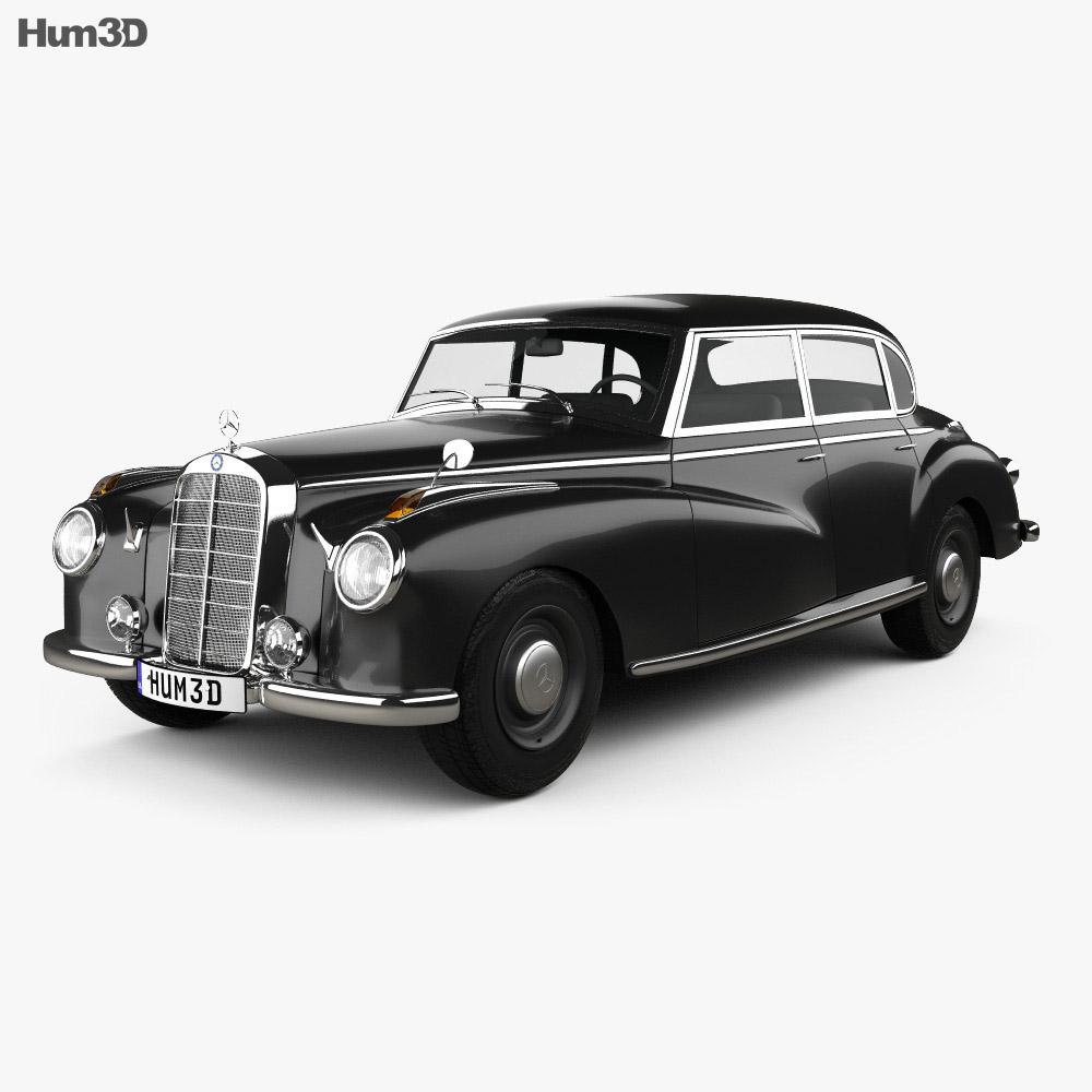 Mercedes benz 300 w186 limousine 1951 3d model humster3d for Mercedes benz old models