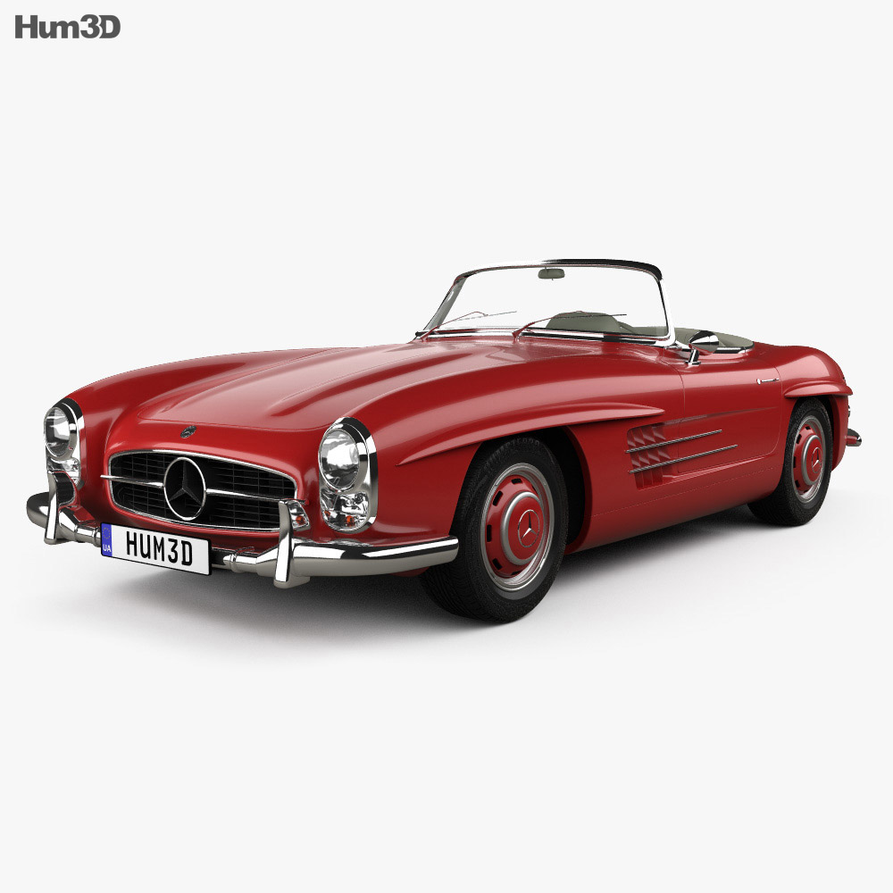 Mercedes-Benz 300 SL 1957 3d model