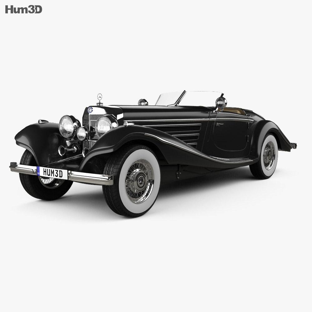 Mercedes-Benz 540K 1936 3d model