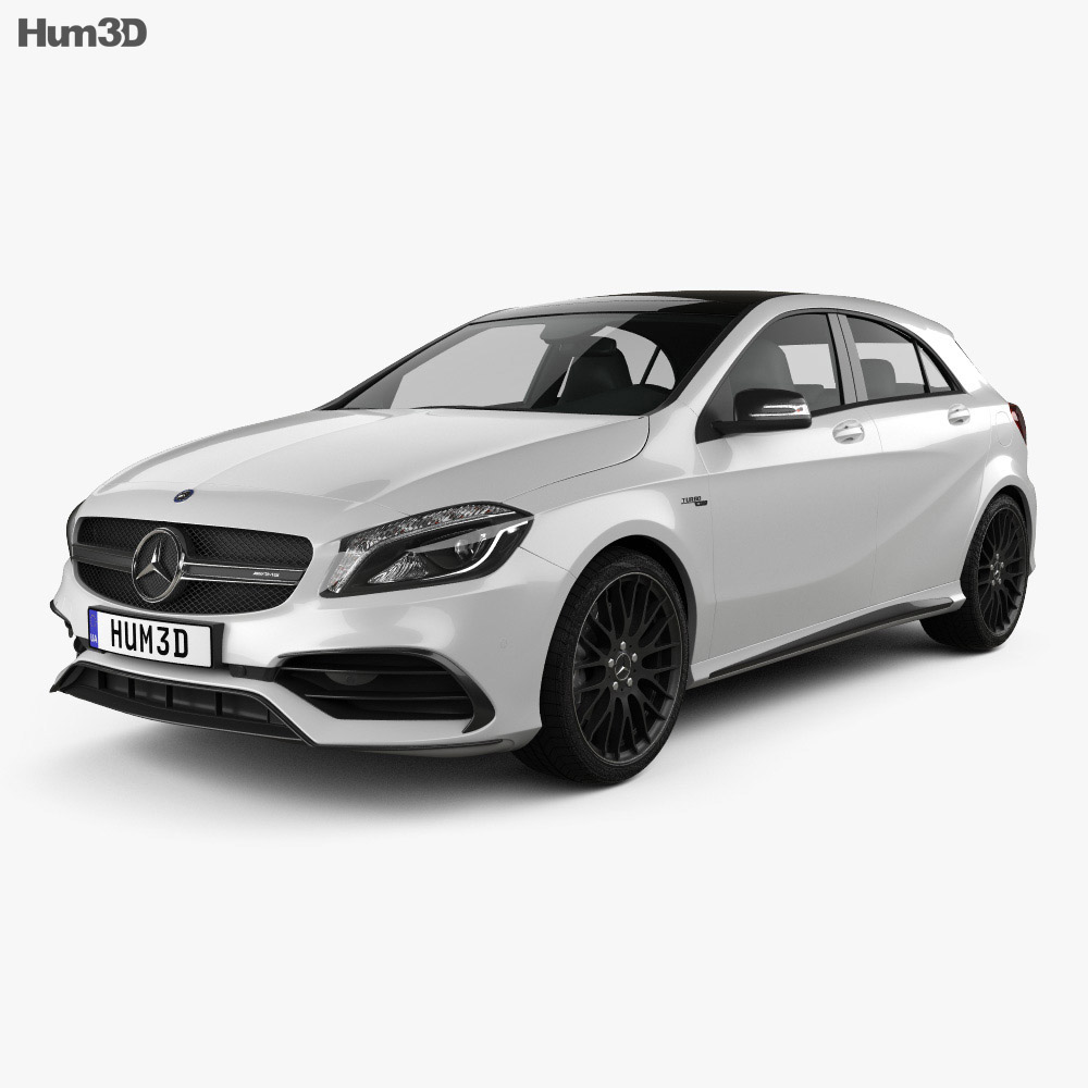 mercedes benz a class w176 amg 2015 3d model vehicles. Black Bedroom Furniture Sets. Home Design Ideas