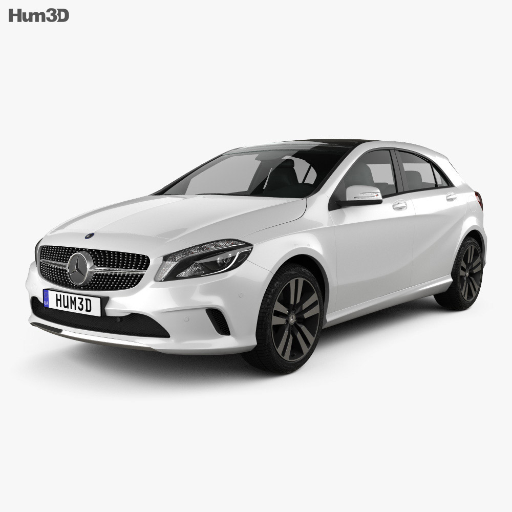 Mercedes-Benz A-Class Urban Line 2015 3d model